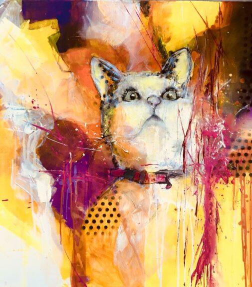 Acrylbild Katze
