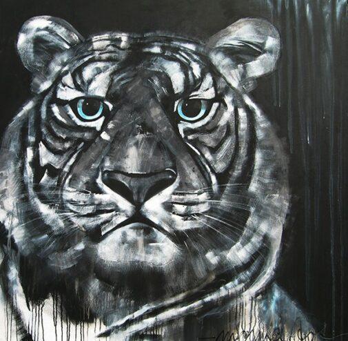 Tiger schwarz - weiss